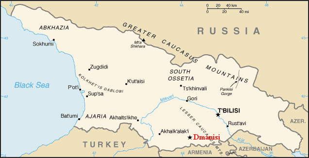 Dmanisi, Georgia on the fringe of the palaeoanthropological 'Black Hole'