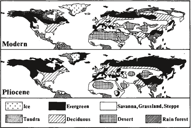 Distribution of Landscapes (Dowsett et al. 1994, Figure 11)